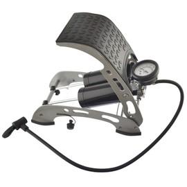 voiture v lo pompe pied double barillet de gonflage de pneus air 0 100 psi. Black Bedroom Furniture Sets. Home Design Ideas
