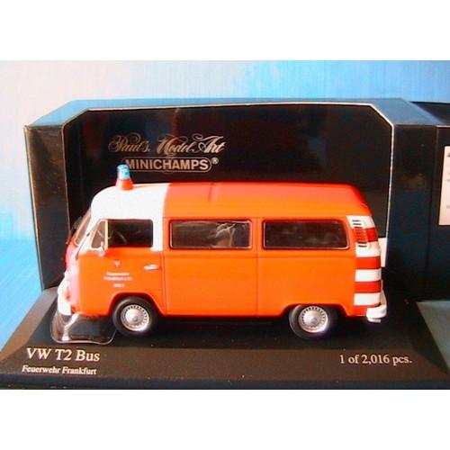 Where Can I Buy A Volkswagen Bus: Vw Volkswagen T2 Bus 1976 Feuerwehr Frankfurt Minichamps