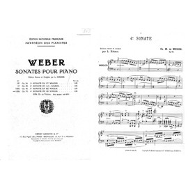 Petite annonce Weber Sonate N° 4 Mi Mineur Op 70 - 16000 ANGOULEME