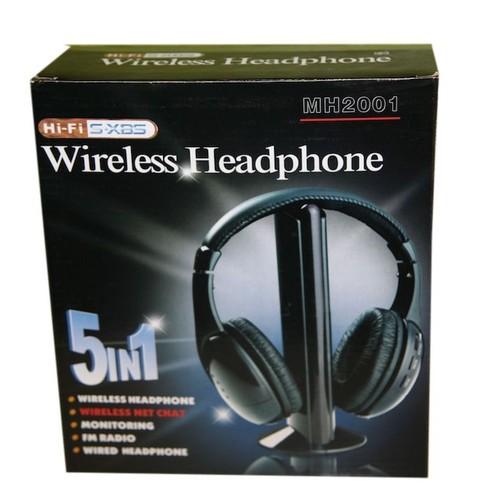 wireless headphone mh2001 casque sans fil 5 en 1 tv hifi. Black Bedroom Furniture Sets. Home Design Ideas