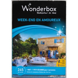 wonderbox week end en amoureux achat et vente. Black Bedroom Furniture Sets. Home Design Ideas
