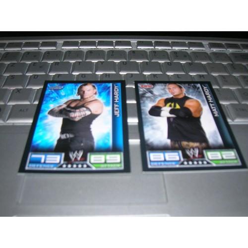 wwe slam attax wrestlemania 25 match 2 cartes jeff