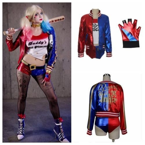 yarui world cosplay t shirt veste culotte gant harley quinn suicide squad halloween cadeau. Black Bedroom Furniture Sets. Home Design Ideas