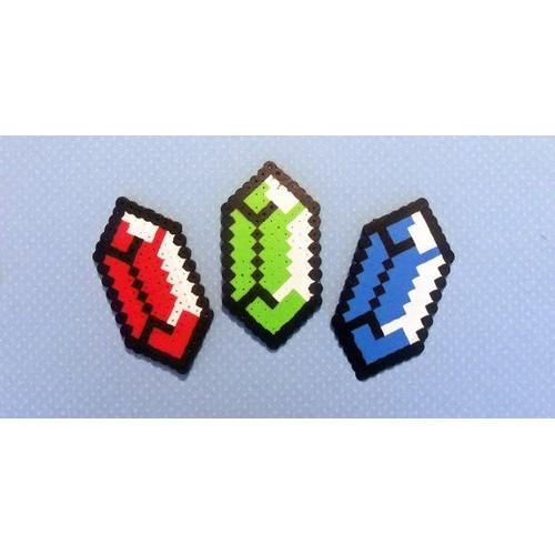 pixel art zelda rubis
